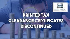 SARS terminates issuing of printed Tax Clearance Certificates